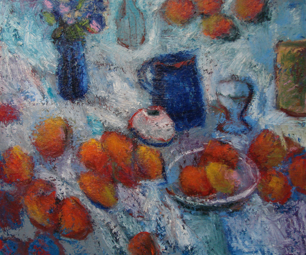 "Them Apples: still life 30x36"" Oil/Canvas 2014"