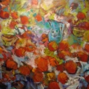 "Them Apples: after Cezanne 36x48"" Oil/Canvas 2014 (SOLD)"