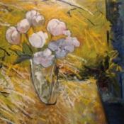 "Sun Entering on Flowers 30x36"" Oil/Canvas 2014"