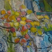 "Apples: Assembling 30x36"" Oil/Canvas 2014 (SOLD)"
