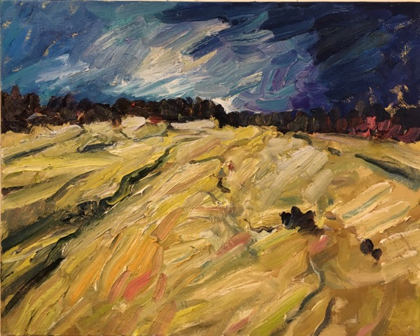 "Weather Over Fields  24x30"" oil/canvas 2017"