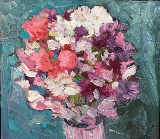 "Fresh Bouquet  14x16"" oil/canvas 2017"