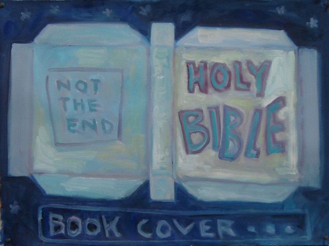 "Book Cover #1 - 22"" x 30"" oil/paper 2015"